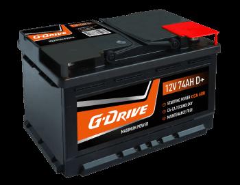 g drive car battery 12V 74AH D+