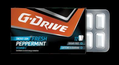 g drive chewing gum peppermint taste