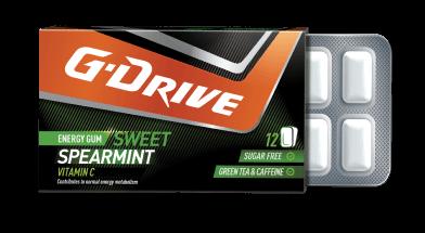 g drive chewing gum spearmint taste