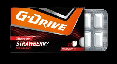 g drive chewing gum strawberry taste