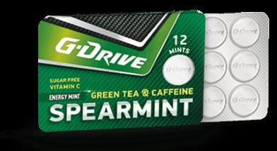 g drive bonbons spearmint taste