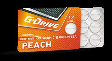 g drive bonbons peach taste