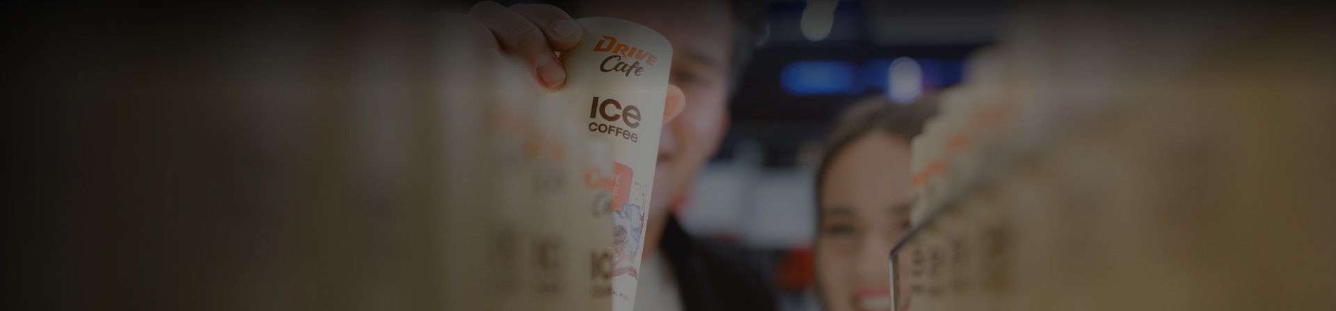 drive cafe ice coffee cans