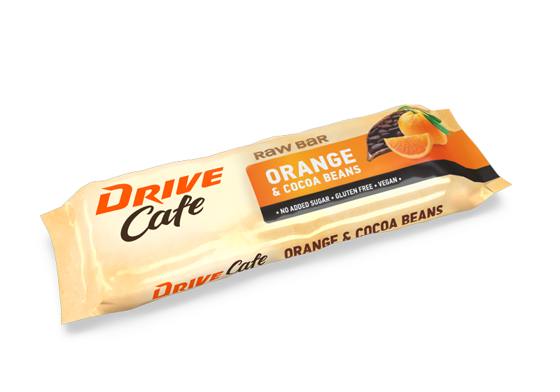 drive cafe raw bars orange cocoa taste